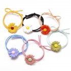 6 Piece Set Children'S Hair Tie Rubber Band Ins Small Daisy Hair Rope Hair Accessories color