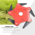 6 Tooth 65Mn Metal Blade Trimmer Head for Garden Lawn Mowers