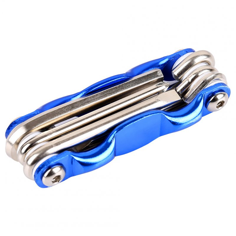 6 in 1 Bicycle Tools Sets Mountain Road Bike Repair Tool Kit Socket Head Wrench Cycling Screwdriver blue
