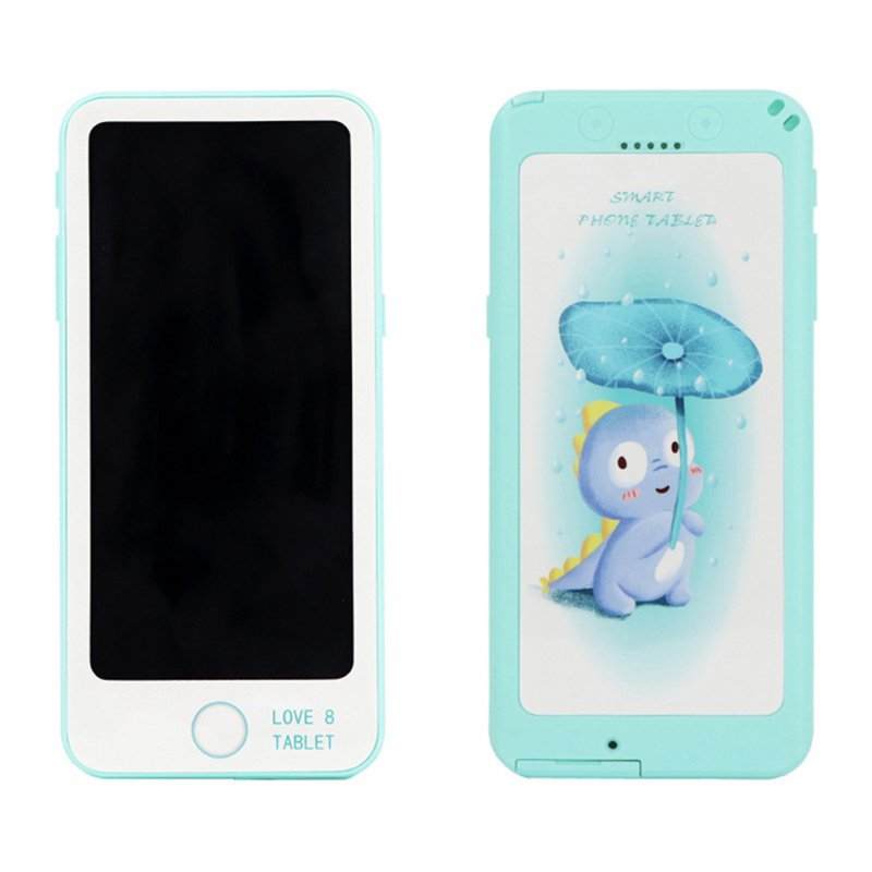 6-inch LCD Tablet Child Puzzle Early Learning Painting Electronic Board Mint Green
