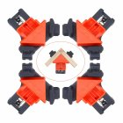 60/90/120 Degree Right Angle Clamp Corner Mate Woodworking Hand Fixing Clips Picture Frame Corner Clip Positioning Tools   Orange