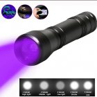6000LM UV Flashlight Mini LED Torch Violet Light UV Zoom Flash Light Purple single flashlight