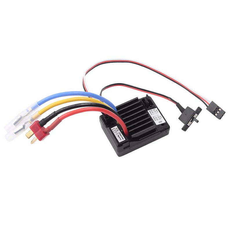 60A Brush Electronic Speed Controller Waterproof ESC for 1/10 RC Car 60A