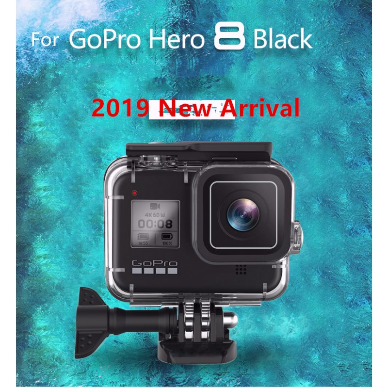 60M Waterproof Housing Cover for Go Pro Hero 8 Black Diving Protective Underwater Dive Cover for Go Pro 8 Accessories default