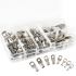 60Pcs Copper Tube Terminals Battery Welding Cable Lug Ring Crimp Connectors Kit Box Packing  60 sets