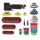60Pcs/Set Air Sander Mini Pneumatic Grinding Machine Set for Car Polishing Air Powered Polisher Tool