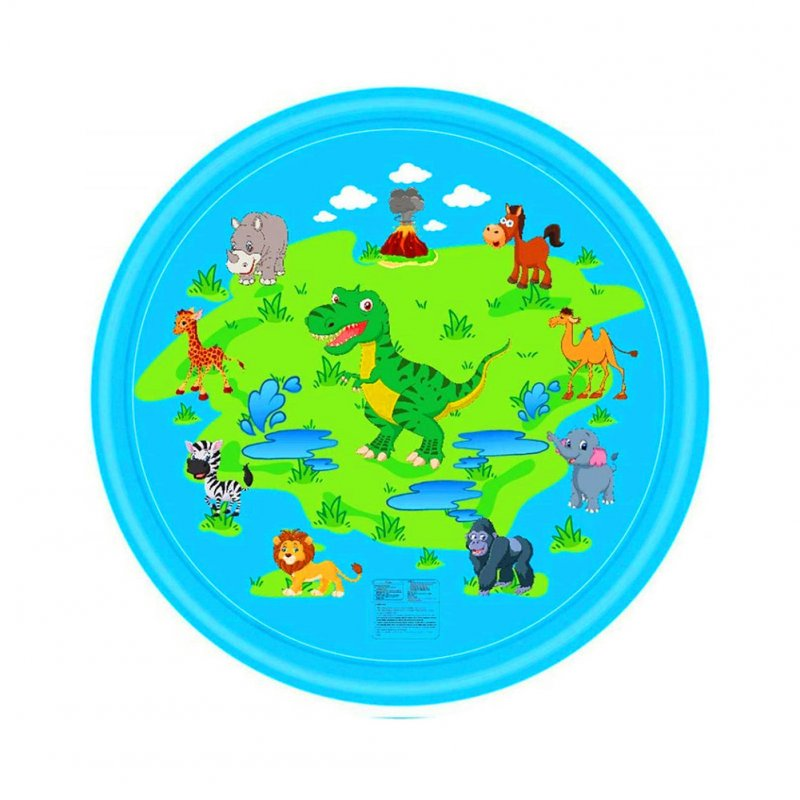 68inch Outdoor Lawn Game Mat Cartoon Pattern Water Spray Toy for Kids Boys Girls Dinosaur spray mat 170cm