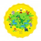 68inch Outdoor Lawn Game Mat Cartoon Pattern Water Spray Toy for Kids Boys Girls 170 yellow dinosaur