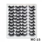 6D Mink False Eyelashes Handmade Extension Beauty Makeup False Eyelashes MC 15