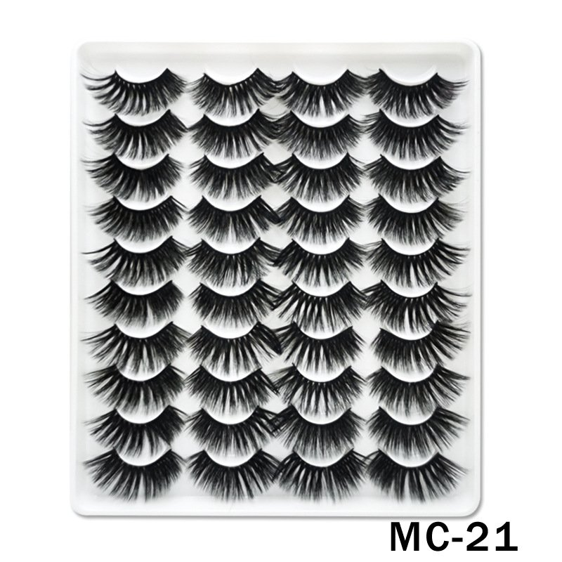 6D Mink False Eyelashes Handmade Extension Beauty Makeup False Eyelashes MC-21