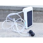 6LED Solar-powered USB Charging Portable Oxygen Pump for Outdoor Fishing Fish Tank white