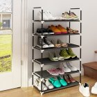 6Layers/10Layers Metal Shoes Rack Home Assemble No Rust Rack for Home Storage 6layers black