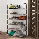 6Layers/10Layers Metal Shoes Rack Home Assemble No Rust Rack for Home Storage 6layers gray