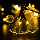 6M 30LEDs Morning Glory Shape Solar Powered String Light with Stent warm light  ME0004702