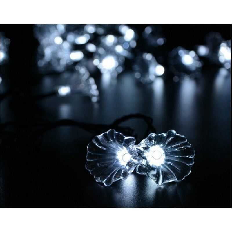6M 30LEDs Morning Glory Shape Solar Powered String Light with Stent White light_(ME0004701)