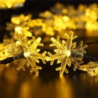 6M 30LEDs Snow Flower Shape Outdoor Waterproof Solar Light String warm light_(ME0004302)
