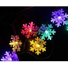 6M 30LEDs Snow Flower Shape Outdoor Waterproof Solar Light String Color light_(ME0004303)