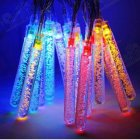 6M 30LEDs Solar Powered Icicle Bubble String Lights Outdoor Wedding Party Decor Color light_(ME0004503)