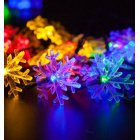 6M 30LEDs Solar Powered Snowflower Shape String Light for Decoration Color light  ME0004303