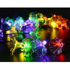 6M 30LEDs Solar Powered Morning Glory Shape String Light with Stent Color light_(ME0004703)