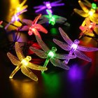 6M 30LEDs Waterproof Dragonfly Shape Solar Powered String Light Color light  ME0004603
