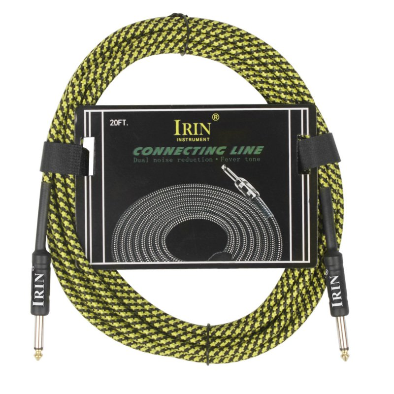 6M Cable Guitar Connecting Line Musical Instrument Accessories Yellow 6 meters