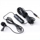 6M Long Wire Microphone Interviews Microphone Smart Phone Live Streaming Broadcasting  black