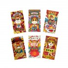 6PCS Chinese Red Envelope Hongbao Year of the Ox New Year Spring Festival Birthday Marry Red Gift Envelope H83