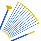6PCS Creative Children Sucker Arrows for Archery Bow Youth Outdoor Sports Game Toy Gift  Blue-yellow