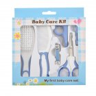 6PCS Manicure Care Set Infant Nail Scissors Comb Brush Baby Care Supplies Set blue_6pcs