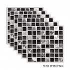6PCS Mosaic Waterproof Lattice Tile Decal for Kitchen Bathroom Wall Decoration  FX724