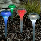 6PCS RGB 7 Colors Change LED Solar Garden Light Outdoor Waterproof Lawn Lamp for Decoration