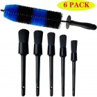 6PCS Set Tire Brush 17inch Hub Brush   5 Detail Brush Car Washing Kit for Cleans Dirty Tires