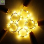 6PCS set Solar Energy 8LED Waterproof Twinkle Light  warm light