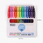 6Pcs/12Pcs Gel Pen with Black Refill Roller Ball Pen for Student School Stationery JWS024 juice box of 12_0.5mm