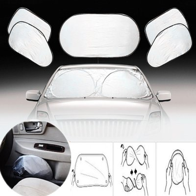 6Pcs Auto Car Visor UV & Heat Blocker