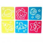 6Pcs Drawing Board Copy Board Diy Christmas Color Painting Toy for Kids H-03
