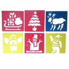 6Pcs Drawing Board Copy Board Diy Christmas Color Painting Toy for Kids H-07