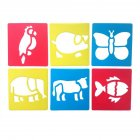 6Pcs Drawing Board Copy Board Diy Christmas Color Painting Toy for Kids H-12