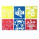 6Pcs Drawing Board Copy Board Diy Christmas Color Painting Toy for Kids H 10