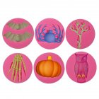 6Pcs Halloween Silica Gel Cake Mould Baking Cake Decoration Tool 6-piece set
