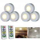 6Pcs LED Lights Stylish Closet Lights with Remote Control Pat Light Night Light for Lighting Warm white light