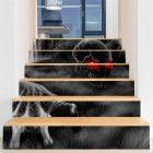 6Pcs Set DIY Horror Removable Waterproof Stickers Decoration for Halloween Wall Stairs