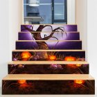 6Pcs Set Waterproof Removable Horror Stair Stickers Decoration for Halloween