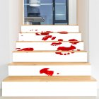 6Pcs/Set Waterproof Removable Horror Stair Stickers Decoration for Halloween