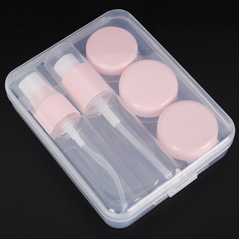 6Pcs/box Travel Refillable Bottles Plastic Spray Cosmetic Container Makeup Box Pink