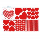 6Sheets Heart Window Stickers Decals DIY Self Adhesive Decorations for Wedding Anniversary Valentine Day As shown