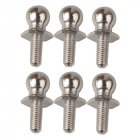 6pcs 1/10 RC Car HSP Parts Ball Head Screw 02038 HImoto Redcat Racing for a variety of HSP Models Silver