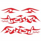 6pcs Car Stripe Decals Side Body Long Stripe Vinyl Flame Decals Decoration Stickers red