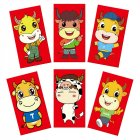 6pcs Chinese Red  Envelope  New  Year Spring Festival Birthday Red Gift  Envelope 2#